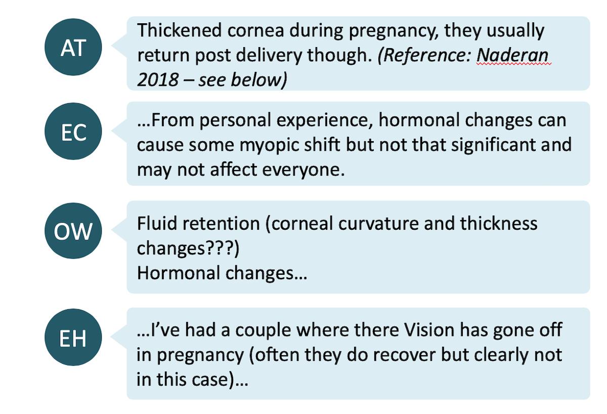 Pregnancy and myopia