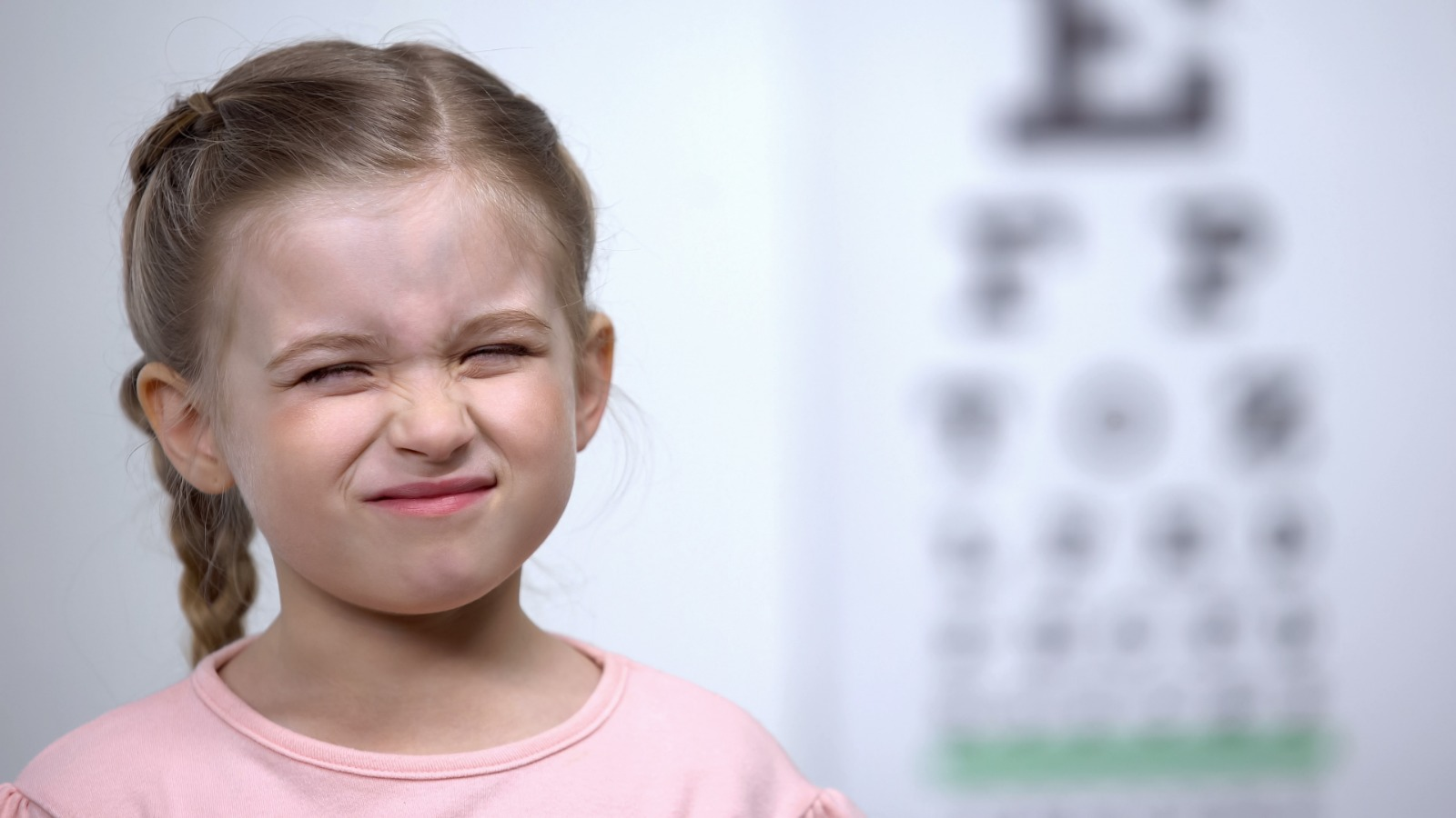 Child frowning because myopia treatment is not working