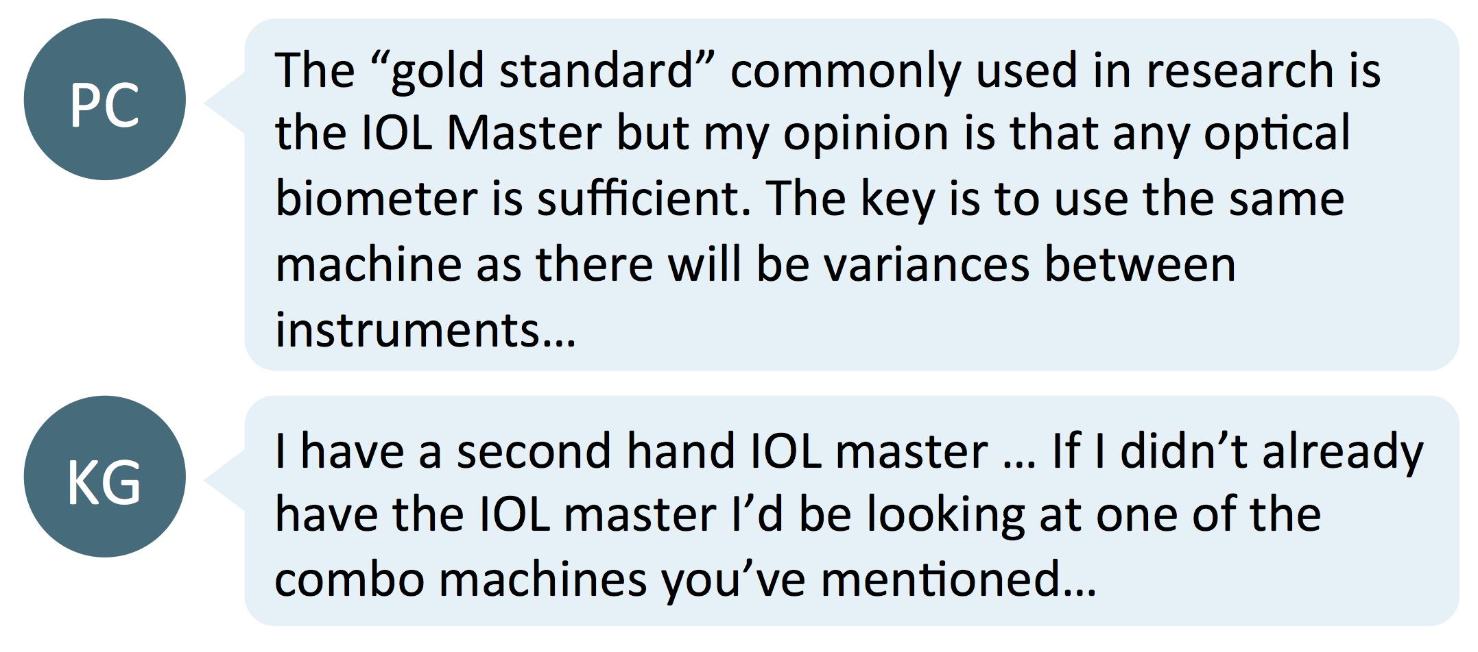 new IOL master